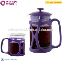 Hot Selling Manual Commercial Pyrex French Press With Mug