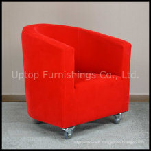 Wholesale Hotel Leisure Fabric Red Armrest Chair (SP-HC262)