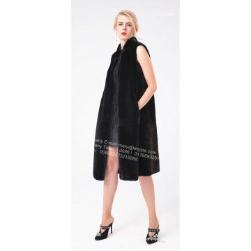 Black Fashionable Mink Gilet