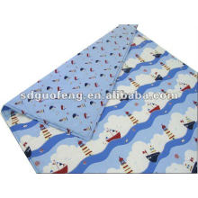 Tejido de popelina estampado twill T / C para ropa de cama