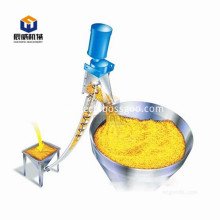 Spring feeder for conveying wheat granules