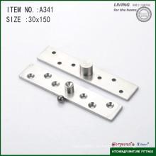 Bisagra del pivote de la puerta del eje central del acero inoxidable 304 para la puerta de cristal A341 150 * 30