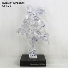 Transparente imitación jade falsa montaña lisa resina resina decoración de piso