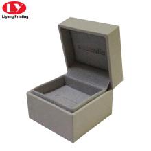 benutzerdefinierte Kristall grau Engagement Mini-Ring-Box