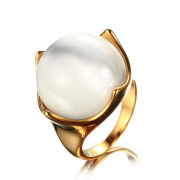 Woman Vintage Plated Engagement Gold Plated  Ring