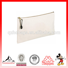 High Quality Travel Zipper Fashion canvas Pouch Bag With Logo Customized