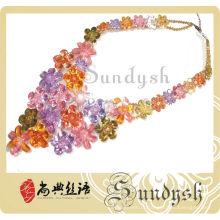 Colares de moda jóias colar de cristal jovem menina feita na china colar