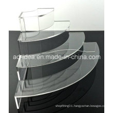 Four Tiers Acrylic Rack Stand / Exhibition for Garment, Ornaments etc