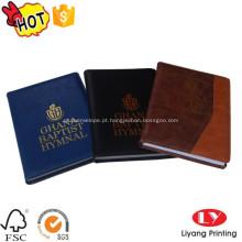 Impressão de livros PU com folha de ouro