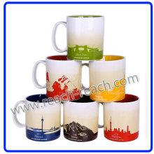 Taza de cerámica, ciudad café taza (R-3064)