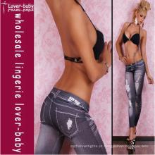 2012 legging fashing jeans preto legging para meninas (l9416)