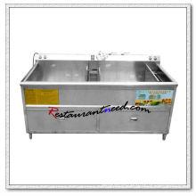 F047 340L Double Tanks Lavadora comercial de frutas e vegetais
