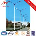 Q235 acero galvanizado 15 m 20 m 30 m postes de luz de calle con brazo cruzado