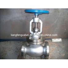 Válvula de globo final de flange de aço inoxidável