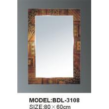 Espelho de vidro do banheiro da prata da espessura de 5mm (BDL-3108)