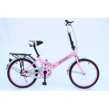 children folding city bicycles with beautiful frame