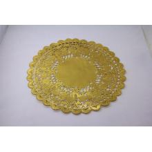 12inch Gold Foil Metallic Round Paper Doilies