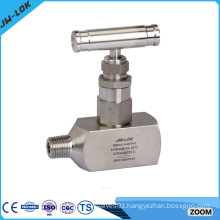 High pressure bar stock gas needle valve