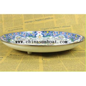 Enamel Fruit Tray Dinner Plate
