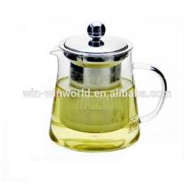 Tetera de cristal a prueba de calor caliente de Samll del regalo promocional de encargo 480ml para hervir el agua