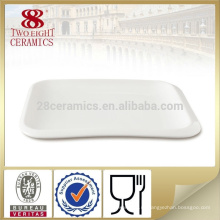 Столовая посуда из высококачественных керамических блюд, белое большое блюдо