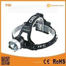 T80 Lampe à LED à haute puissance multifonction 10W Xml T6 phare à LED rechargeable