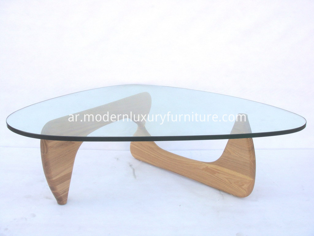 Isamu Wooden with Glass Top