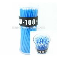 New 100pcs Eyelash Extensão Micro Brushes, Eyelashes Extension Individual Lash Glue Removendo Maquiagem Ferramentas