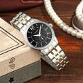 Relógio de pulso de senhora de aço inoxidável impermeável moderno de Genebra