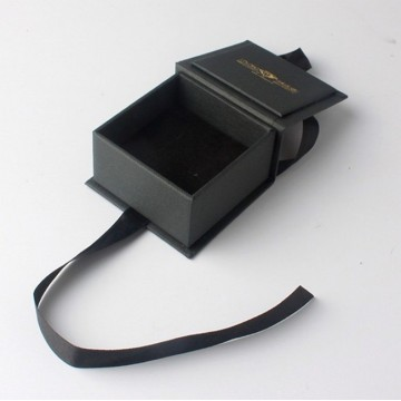 Квадратный черный бумажная коробка ювелирных изделий ожерелье