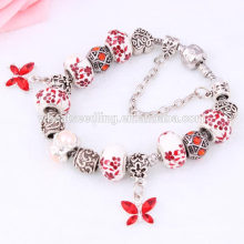 Japón estilo mariposa sakura manual lujo personalizado pulsera de porcelana