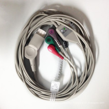 Datex One-Piece 5ld Snap ECG Cable with Leads (AHA)