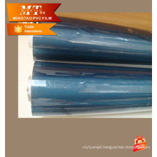 transparent blue pvc super clear film for making bag