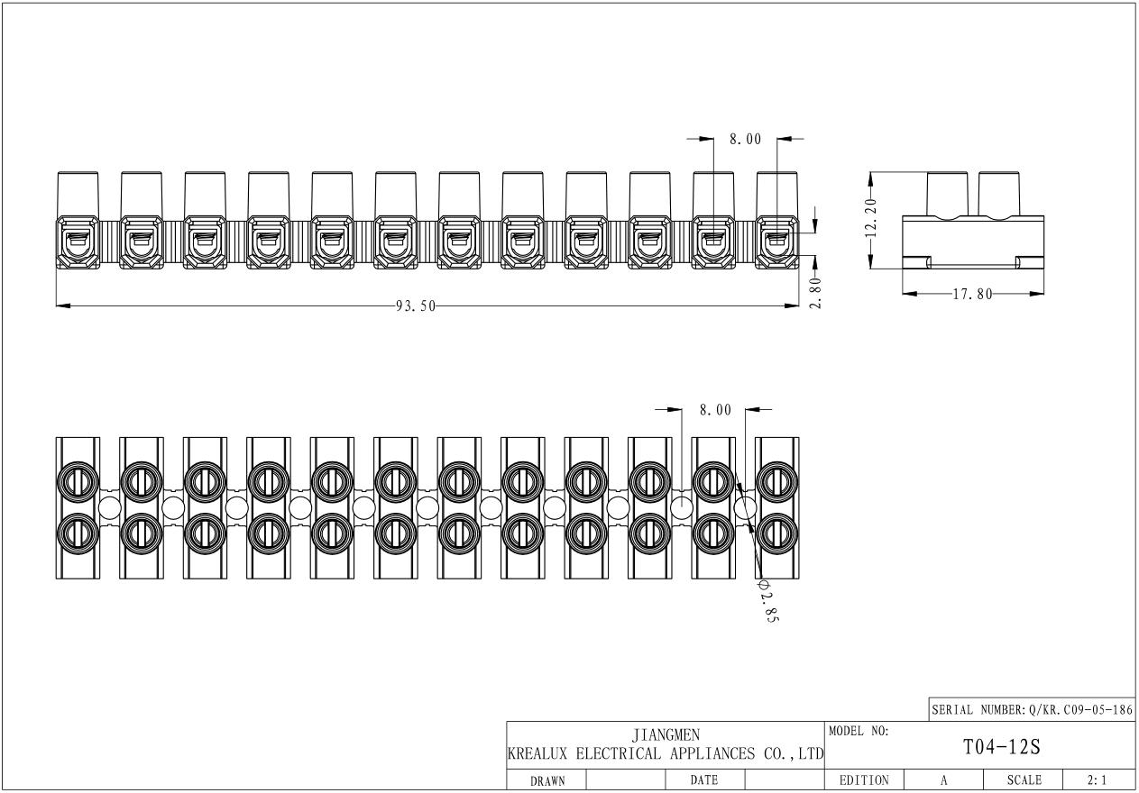 12 Ways Terminal Block