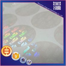 Transparent laser hologram sticker custom design label