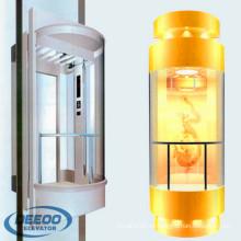 Importieren Sie lokalen lokalen kommerziellen älteren Glaskapsel-niedrigen Kosten-Aufzug