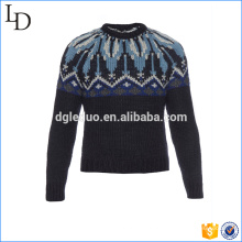 Moda clássica de suéter jacquard pesado pesado para homem de negócios