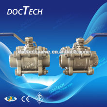 "Hot Sale Sample for free DN100 / 4"" Stainless Steel Female/male Thread 3-PC Ball Valve 1000WOG /PN16"