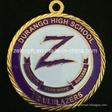 Medalla de oro personalizada para la competencia escolar