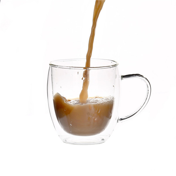 Double Wall Clear Kaffee Glas Cup