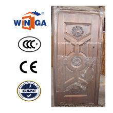 Porte de cuivre métallique de sécurité extérieure populaire de Turquie (W-ST-07)