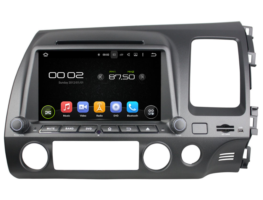 Android Car Audio Player For Honda Civic 2006-2011