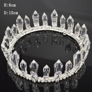 Tiaras redondos completos do casamento do vintage com diamante grande