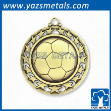 Médailles personnalisées de football de football sportif
