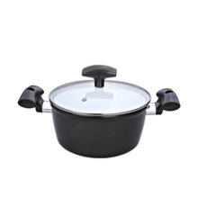 with Glass Lid and Ceramic Coating Cooking Pot