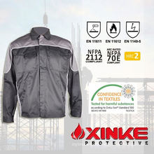 100% cotton fire retardant winter work jacket for industry use