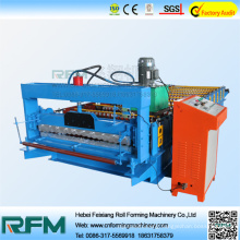 Corrugated panel roll forming machine with plc control
