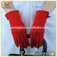 fashion women color winter text wool gloves in stock