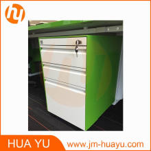 Gabinete archivador móvil de alta calidad (blanco y verde hierba)