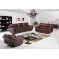 Sofá reclinável elétrico de sofá de couro genuíno em couro (752)